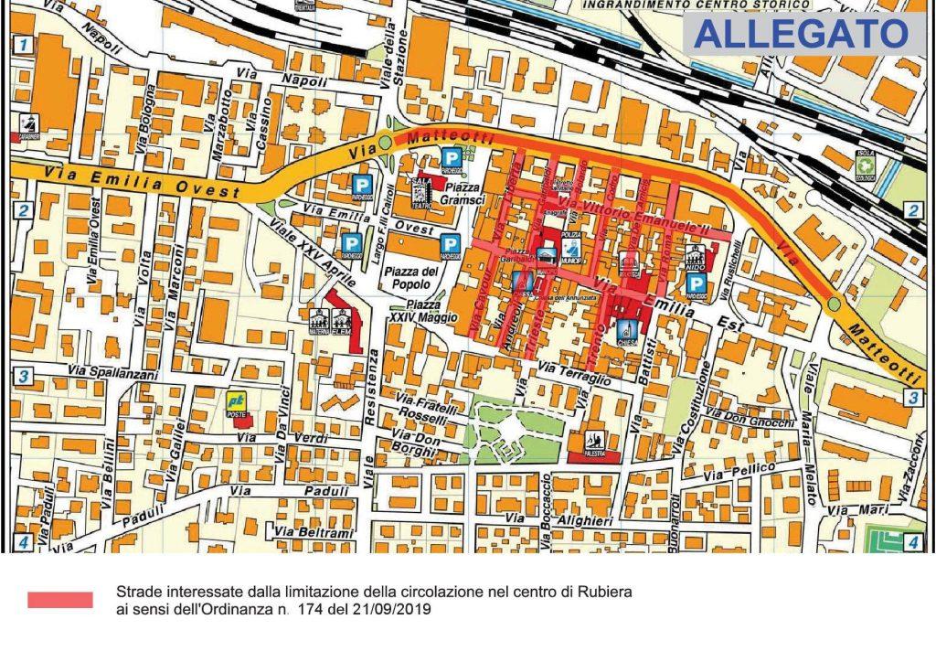 Mappa zona Ordinanza